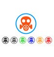 gas mask rounded icon vector image