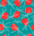 Leaves and Dragonflies vector image
