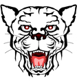 Panther head tattoo tribal vector image