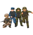 Group of soldiers with weapons vector image vector image