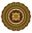 Round gold and brown vintage pattern vector image vector image