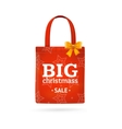 Christmass Sale Fabric Cloth Bag Tote vector image vector image