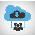 cloud connection social media group download vector image