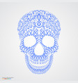 ornamental pattern skull in tattoo style vector image