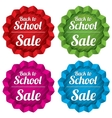 Back to school sale tags Special offer stickers vector image vector image