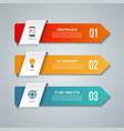 arrow infographic elements vector image vector image