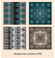 Abstract patterns background seamless vector image