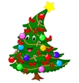 Christmas tree cartoon character vector image