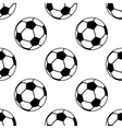 Seamless pattern with football or soccer balls vector image