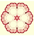 Ornamental round floral pattern Set of four vector image