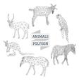 Animals polygon outline vector image