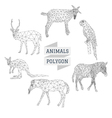 Animals polygon outline vector image