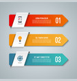 arrow infographic elements vector image