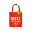 Christmass Sale Fabric Cloth Bag Tote vector image
