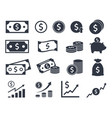 dollar icons money signs vector image
