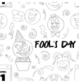 Fools day pattern- 1 April vector image