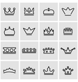 line crown icon set vector image