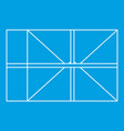 Parcel icon outline style vector image