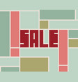 sale word typography background vector image