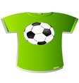 T-Shirt Design Soccer ball vector image