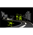 Be visible on the road vector image vector image