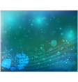 Abstract ocean blue background vector image vector image