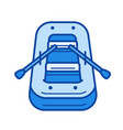 rubber boat line icon vector image
