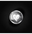 Heart rhytm cardiogramm medical icon vector image