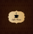 Brown elegant decorative coffee house menu vector image