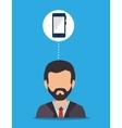 Business employee people vector image