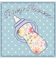 Baby shower with feeding bottle vector image