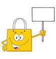 Yellow Shopping Bag Cartoon vector image