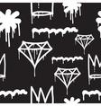 Graffiti seamless pattern vector image