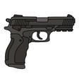 black automatic handgun vector image