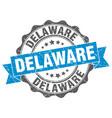 delaware round ribbon seal vector image