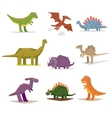 Dinosaurs and prehistoric period vector image