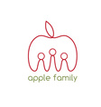 happy apple family design template vector image