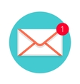 Icon of new mail envelope White envelope with red vector image