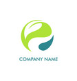 leaf round environment logo vector image