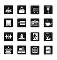 supermarket navigation icons set simple style vector image