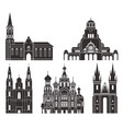 eastern europe isolated european buildings vector image