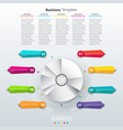 modern paper infographics in a pie chart for web vector image