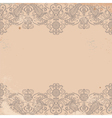 old worn texture with pattern border vector image