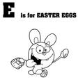 Royalty Free RF Clipart Cartoon Alphabet E vector image vector image