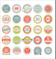 retro colorful badges and labels collection vector image