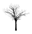 black silhouette of tree vector image