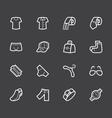 men waer element white icon set on black backgroun vector image