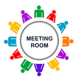 Colorful meeting room icon vector image