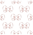 red bow seamless vector image