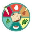 Passover seder flat icons vector image